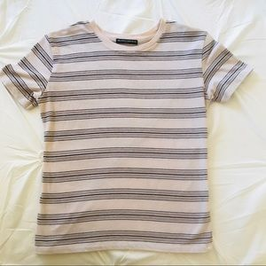 Brandy Melville Striped Pink Tee